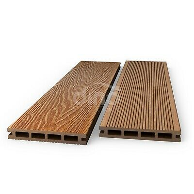 Plastic Wood COMPOSITE Decking Boards Kit Garden & OPTIONAL FIXINGS - Amber
