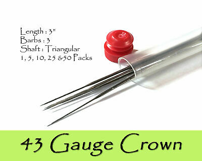43 Gauge crown felting needles.