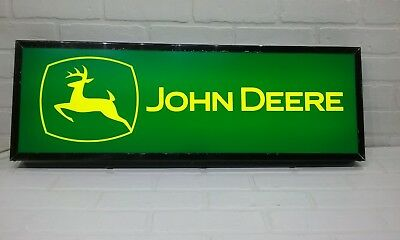 John Deere Lighted sign 30x10 inch 3 inches deep