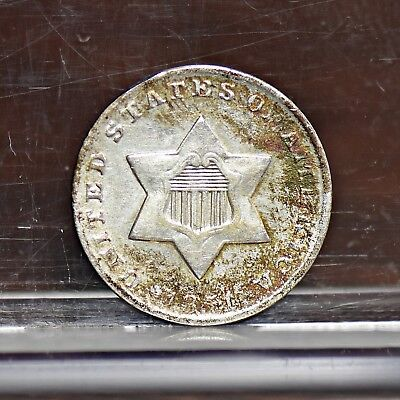 1851 Three Cent Silver 3CS - Unc Details (#12003)