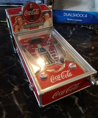 Coca Cola Collectible Pinball Machine Musical Light Up Bank -COOL- WORKS GREAT!