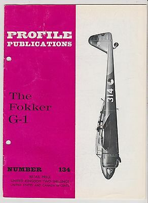 Profile Publications 134 - Aircraft - The Fokker G-1 - 1966 (X)