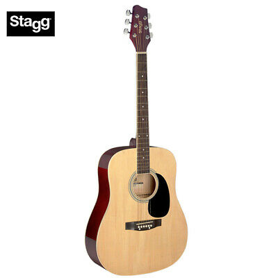 NEW Stagg SA20D-NAT Full Size Dreadnought Student Acoustic Guitar - Natural