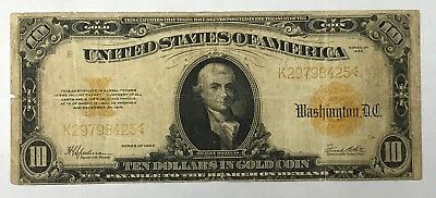 1922 $10 Gold Certificate Large Note