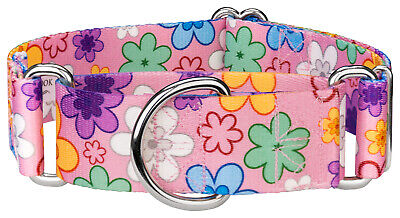 Country Brook Petz® 1 1/2 Inch  Martingale Dog Collar - Floral Collection