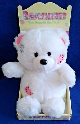 Huggable Bed Warmer - Soft White Bear - Gift - New