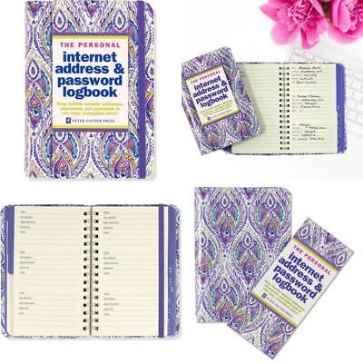 Logbook Organized A to Z Personal Internet Address and Password Hardcover Spiral