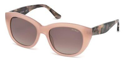 Guess GU 7483 GU7483  crystal taupe with gold temples brown 57F Sunglasses