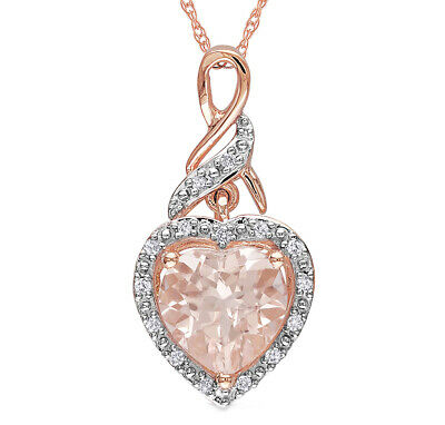 Amanda Champagne CZ Heart Rose Gold Plated Necklace Ginger Lyne Collection