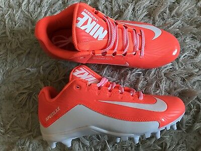New Womens Nike Speedlax 5 TD LAX Lacrosse Cleats 807158-811 Orange/White Size 9