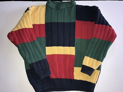 Vintage 90's Boys Nautica Crewneck Colorblock Sweater Large 16/18