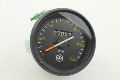 Speedometer 120 km / H with Black Ring PIAGGIO VESPA PX Old