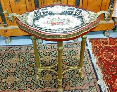 Antique Bronze Art Noveau French Style Serving Table