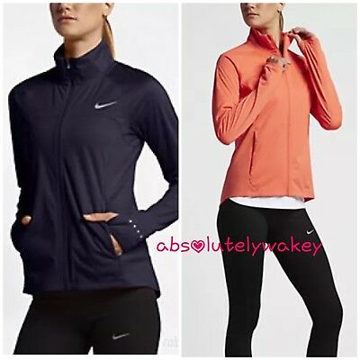 50589e61af4f NIKE SHIELD FULL-ZIP Women`s Running Jacket Zoned Hooded Red 820565 ...