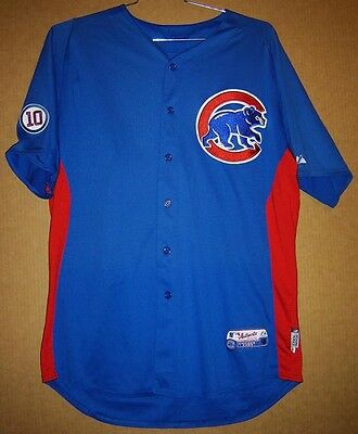 dcbc6ad9975 2011 CHICAGO CUBS JOHN GRABOW GAME WORN  43 BLUE BATTING PRACTICE Size 48  JERSEY