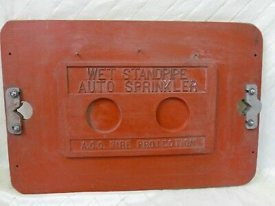 Wood Foundry Fire Department Auto Sprinkler Plate Pattern Steampunk Industrial