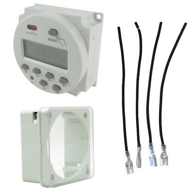 DC 12V LCD Digital Power Saver Hour Programmable Timer Time Switch Outlet Relay