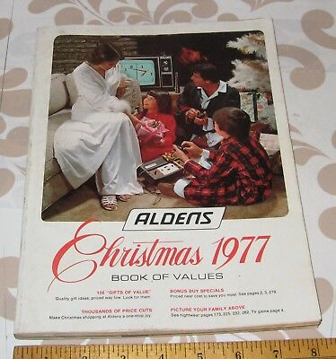 Aldens Christmas Book of Values 1977 vintage apparel, toys, household, free ship