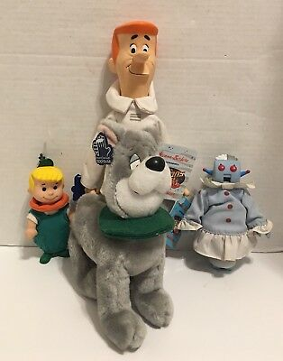 The Jetsons Elroy, George and Rosie Figures Dressed Astro Plush By Applause