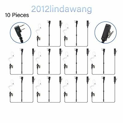 Lot 10 Palm Mic with Earpiece Earphone for ICOM IC-F4021 F4022 F4023 F4026 Radio