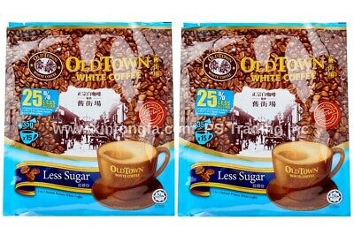 2 X Old Town Instant White Coffee 3in1 Less Sugar 舊街場低糖白咖啡