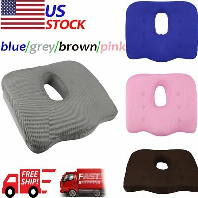 Orthopedic Coccyx Seat Cushion Foam Tailbone Pillow for Sciatica & Pain Relief T