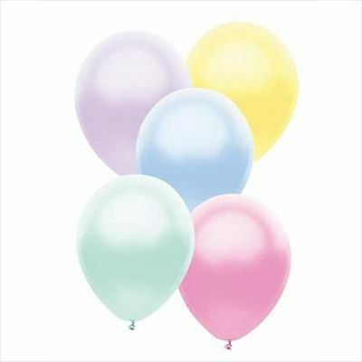 Pastel  Pearl Latex Balloons *** Pack Of 50 ***