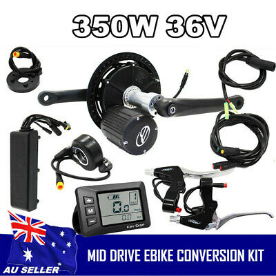 Geared Torque Sensor Mid-Drive Kit eBike LCD Display 36V 350W Conversion Kit