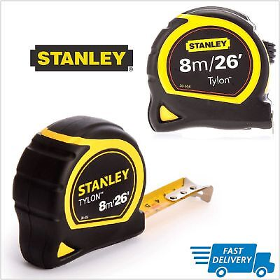 Original Stanley Tape Measure 8m 26ft TYLON Pocket Tape Measure 130656N Long NEW