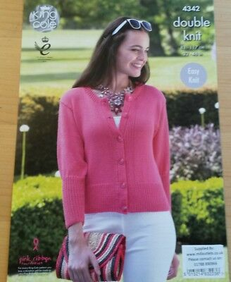 Ladies Topjumper And Cardigan Knitting Patterns Dk King Cole