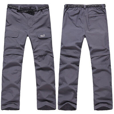Men's Male Quick Drying Casual Pants Long Cargo Work Trousers Outdoor Hiking