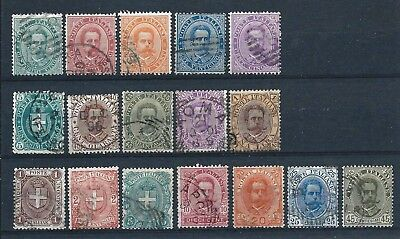 Italy 1879 King Umberto I Selection to 1L Used CV £168