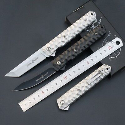 Portable Folding Knife Camping Keychain Tactical Rescue Survival Outdoor Tools