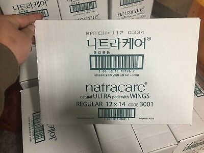 Natracare Natural Ultra Pads with Wings, Regular 14 ea x 12 (1BOX)