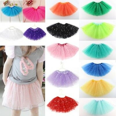 Star Sequins Girl Kids Toddler Princess Tutu Skirt Ballet Dance Wear Skirt Dress