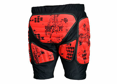 Adult Motocross XTRM Motorcycle Quad Bike Racing Mx Protection Padded Shorts Red