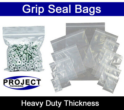 All Sizes GRIP SEAL BAGS Self Resealable Clear Polythene Poly Plastic Zip Lock