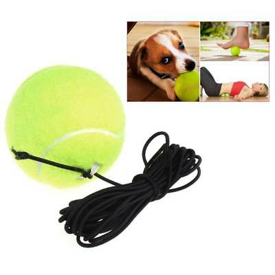 Green Rebound Resilience Tennis Balls Trainer Exercise Rubber Cord Elastic Band