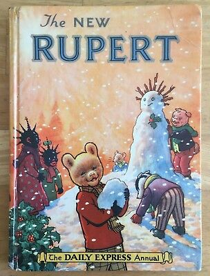 RUPERT ORIGINAL ANNUAL 1954 Inscribed Price Clipped Painting done VG