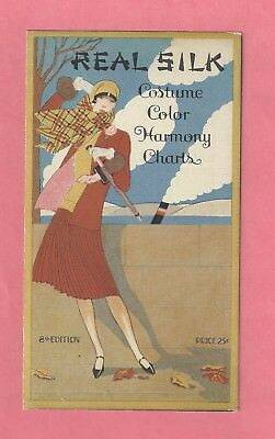 1926 Real  Silk Costume Color Harmony Charts - Sample Color Card