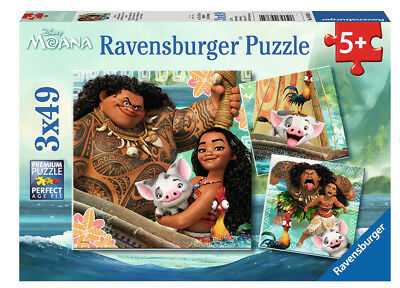 09385 Ravensburger Disney Moana Jigsaws 3 x 49pcs Puzzles Children Girls 5+