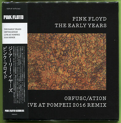 Pink Floyd THE EARLY YEARS. OBFUSC/ATION: LIVE AT POMPEII 2016 CD mini-LP Sealed
