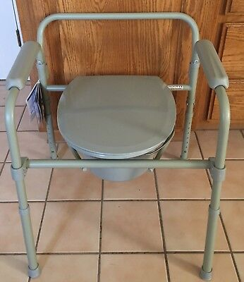 Drive Medical Steel Folding Bedside Commode NWT