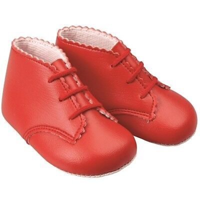 Early Days Baypods Baby Boys Girls Boots Shoes Red 18 - 24 Months Size 4
