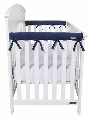 Trend Lab Fleece CribWrap Rail Covers for Crib Sides (Set of 2), Navy Blue
