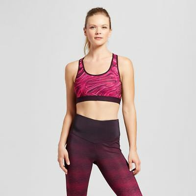 1636a8b43a C9 Champion Women s Power Core Racerback Sports Bra - Deep Raspberry Marble  - XS