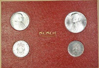 Brilliant Uncirculated 2 /& 1 Lire Vatican 1951 Mint Set