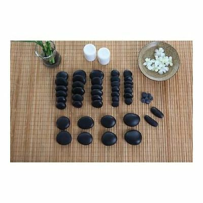 ORGINAL STONES 50pc Hot Stones Massage SPA Set Lava Natural with Manual DVD