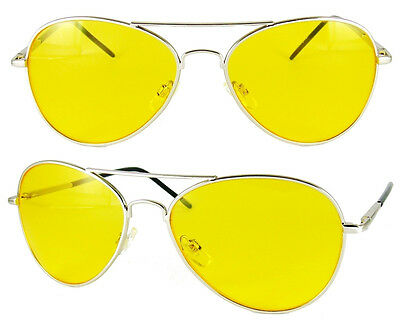 af9857d053 New Hd Night Driving Vision Sunglasses Yellow Aviator High Definition  Glasses