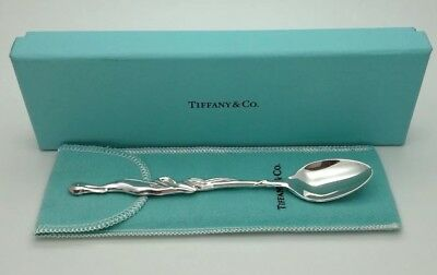 Tiffany & Co. Sterling Silver Stork Baby Feeding Spoon Christening Gift